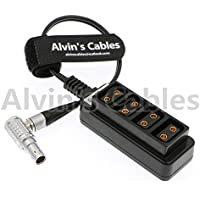 Alvins Cables 2 pin lemo right angle to 4 D-tap splitter Cable for RED DSMC2 Jetpack RTmotion Sidekick