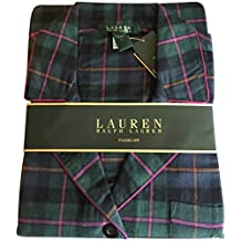 Lauren Ralph Lauren 2-PC Travel Cruise Sleepwear Pajama Set Tartan L
