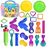 diy play dough - Kids Clay Dough Tools Playset, Toddler Tool Set & Play Kitchen Food Creations, Pretend Cooking Set, Pre-Kindergarten Educational DIY Art Craft Kit with Dough Molds Cutters, Shapes Maker - 36 PCs