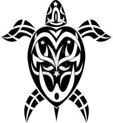 Tribal del tatuaje del arte tortuga, vinilo adhesivo pared Art ...