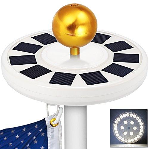 GRDE Solar Flagpole Downlight Lighting