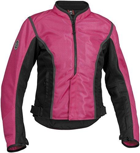 (Firstgear Womens Contour Mesh Jacket Pink Black XL/X-Large)