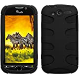MyBat HTCMYTH4GHPCSK040NP Rubberized Fishbone Protective Case for HTC My Touch 4G - 1 Pack - Retail Packaging - Black