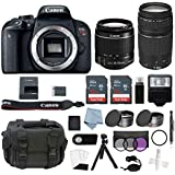 Canon EOS Rebel T7i Bundle With EF-S 18-55mm IS STM & EF-S 75-300mm III Lens + Canon T7i Camera Advanced Accessory Kit - Including EVERYTHING You Need To Get Started