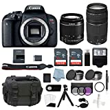Canon EOS Rebel T7i Bundle With EF-S 18-55mm IS STM & EF-S 75-300mm III Lens + Canon T7i Camera Advanced Accessory Kit – Including EVERYTHING You Need To Get Started