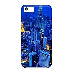 Fashion Tpu Case For Iphone 5c- Beautiful City Evening Lights Defender Case Cover