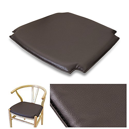 (TREND360 Wishbone CH24 Y Chair Style Easy Care Premium PU High Density Foam Seat Cushion Pad - Dark Chocolate)