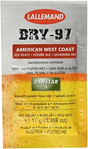 Danstar BRY-97 American West Coast Ale Yeast, 11g (Best American Pale Ale)