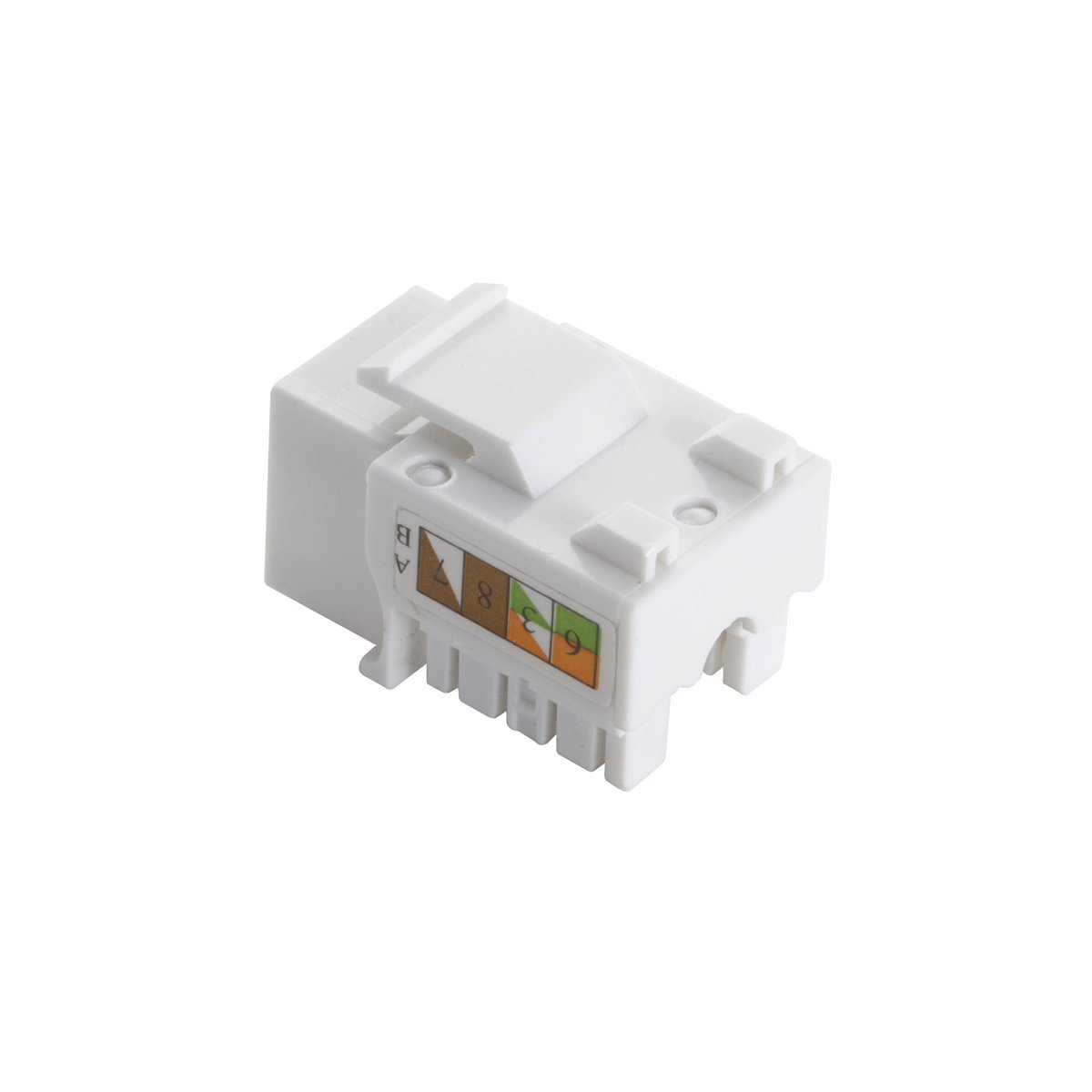 Teninyu 5 Pack Rj45 Keystone Jack Module Connector 568a Wiring Diagram Get Free Image About 568b Adapter Compatible Cat 6 5e Connectorwhite Computers Accessories