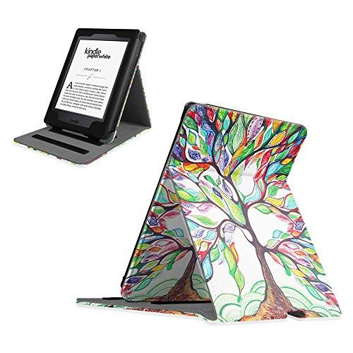 Fintie Kindle Paperwhite Hülle - Vertikal Flip Case Schutzhülle Tasche mit auto Sleep / Wake für den neuen Kindle Paperwhite 2015 (mit 300 ppi-Display, 6 Zoll, und integrierter Beleuchtung) und alle Modelle von 2012, 2013, 2014 - Liebesbaum