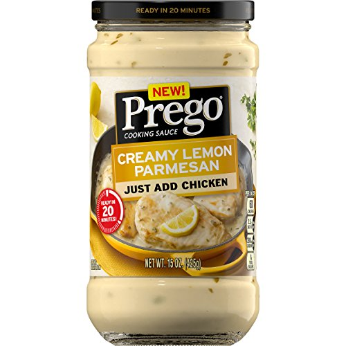 Prego Cooking Sauce Creamy Lemon Parmesan, 15 oz. Jar (Pack of 6)