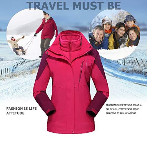 Pull Manteau Chaud air Polaire Plein Sport Unisexe Delicacydex Vestes en l'eau imperméable Ski Trekking intérieure randonnée 3 à Couche Camping Hiver Veste wpx6OnaZqp