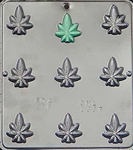Marijuana Leaf Pot Leaf Bite Size Chocolate Candy Mold 1337