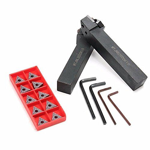 WTJNR2020K16 WTJNL2020K16 Turning Tool Holder with 10pcs TNMG160408-HS Carbide Inserts BephaMart BM00001