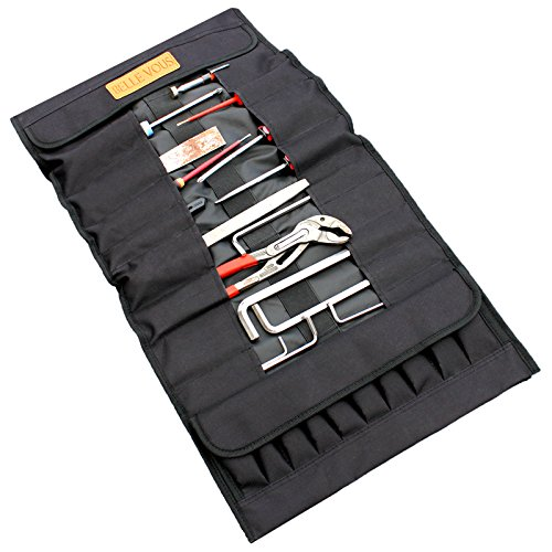 Belle Vous 32 Pocket Tool Roll Bag- Made from Polyester- Durable, Sturdy And All Around DIY - Bag Roll Polyester