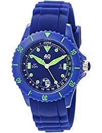 Women's Quartz Plastic and Silicone Casual Watch, Color:Blue (Model: 40NINE03/NAVY20)