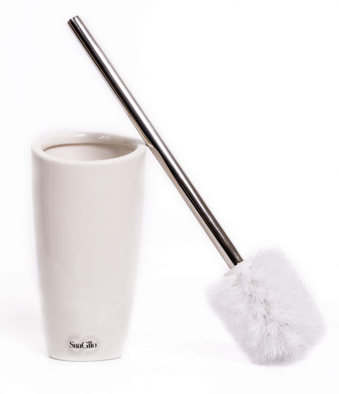 Luxury Toilet Brush Set handcrafted from Ceramic Stoneware material and brush with 304 steel handle SaaGiio Toilet brush and holder