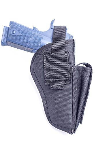 OutBags OUTBAGS OB-04SC (RIGHT) Nylon OWB Belt Gun Holster with Mag Pouch  for Remington R1, Rock Island 1911, Ruger SR1911, Colt Govt, Colt 1911  45  /
