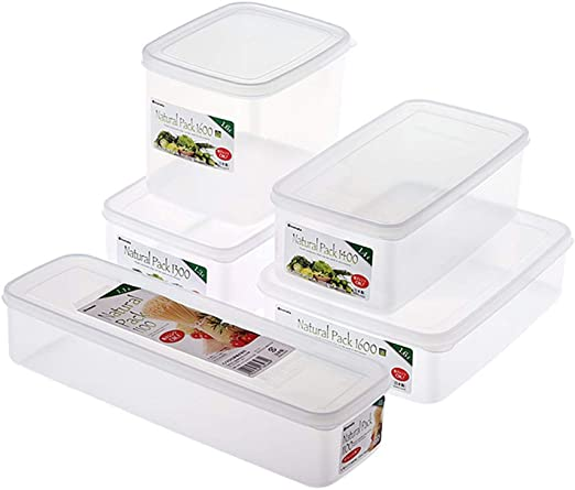 Juegos de Recipientes Caja de Almacenamiento de Alimentos Bento Cocina Sello Plastico Refrigerador Congelador Seguridad de Microondas: Amazon.es: Hogar