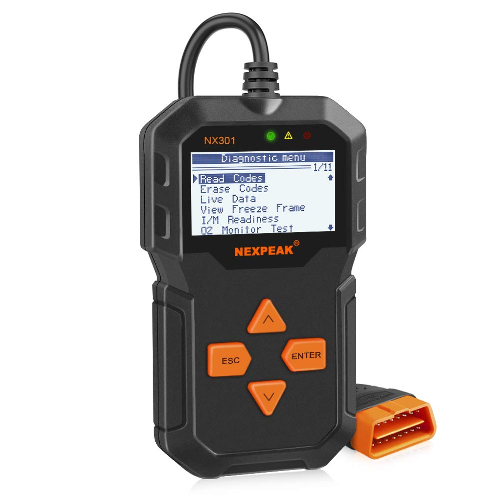 NEXPEAK NX301 Enhanced OBD2 Scanner Universal OBD II Car Engine Fault Code Reader Professional Auto Diagnostic Scan Tool