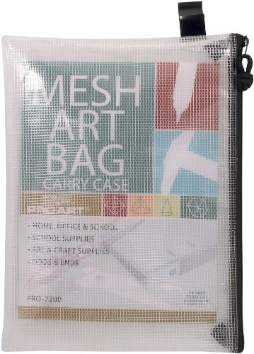 Pro Art Mesh/Vinyl Bag with Zipper, 10 by 13-Inch by Pro Art