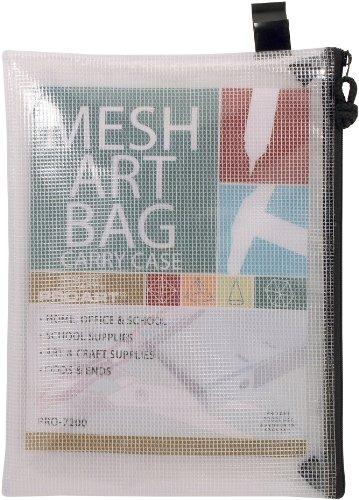 Pro Art Mesh/Vinyl Bag with Zipper, 10 by 13-Inch - Vinyl Zipper