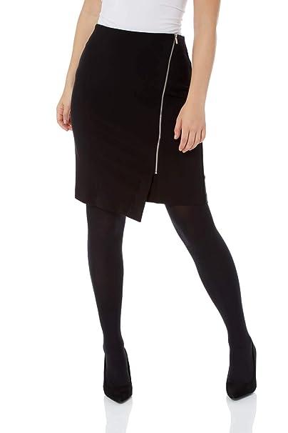 74506120cc Roman Originals Women Asymmetric Zip Detail Skirt - Ladies Clothing Elegant  Smart Work Formal Office Diagonal Zipped Day to Evening Zips Mini Pencil  Skirts: ...