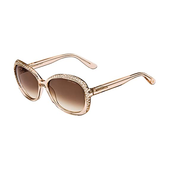 25668e2cf Jimmy Choo Women's LU/S 42 Fhf Sunglasses, Nude/Brown Ss, 58: Amazon ...