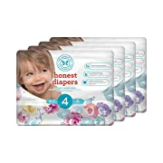 Honest Baby Diapers, Rose Blossom, Size 4, 116 Count