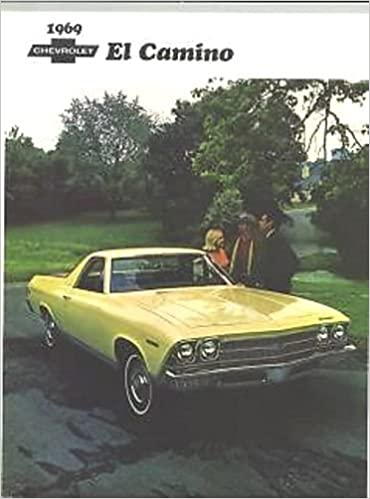Full Color 1969 Chevrolet El Camino Truck Dealership Sales
