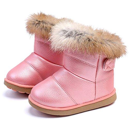 6db4ecd89 CIOR Girls' Winter Snow Boots Outdoor Fashion Warm Fur Boots ...
