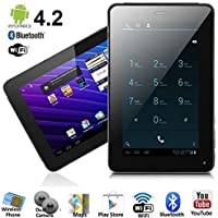 SVP 7-inch Phablet Smart Phone + Tablet PC Android 4.2.2 Bluetooth GPS WiFi Unlocked! ual Sim Card , Dual Camera , HD Display , Black Color , Capacitive 5 Point Multi-Touch Screen , Support 3D Game , 3G Dongle , Wi-Fi , E-Book , Features Google Play Store, Skype, YouTube and G-Sensor , Phablet (By SVP) (black)