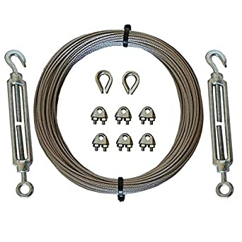 Galvanised Catenary Wire Kit 5mm 6x7FC 5 Metre Westward Rope and Wire