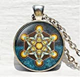 Metatron's Cube pendant, Sacred geometry jewelry, Geometric necklace, Sacred geometry necklace, Jewelry for men, necklace for men