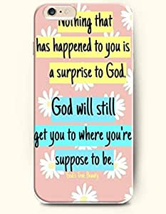 iPhone Case,OOFIT iPhone 6 Plus (5.5) Hard Case **NEW** Case with the Design of NOTHING THAT HAS HAPPENED TO YOU IS A SURPRISE TO GOD. God will still get you to where you're suppose to be - Case for Apple iPhone iPhone 6 (5.5) (2014) Verizon, AT&T Sprint, T-mobile