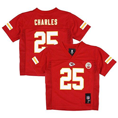 OuterStuff Jamaal Charles NFL Kansas City Chiefs Mid Tier Red Home Jersey Toddler (2T-4T) by Outerstuff