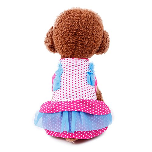 Nagolia Sweet Dog Clothing Pet Clothes Puppy Princeess Skirt Clothes For Chihuahua Yorkies Dot S