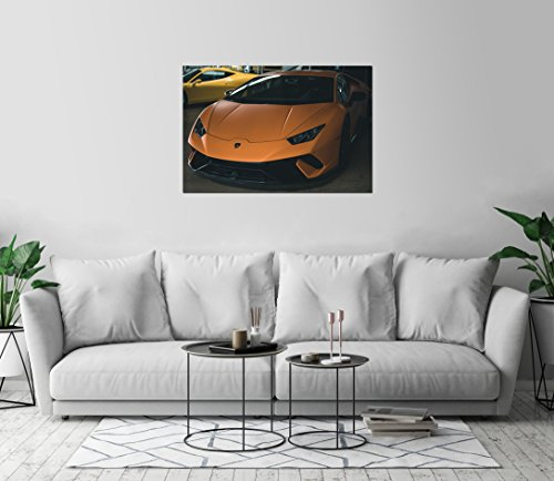 Lamborghini Huracan Luxury Orange Vehicle Art Print Wall Dec