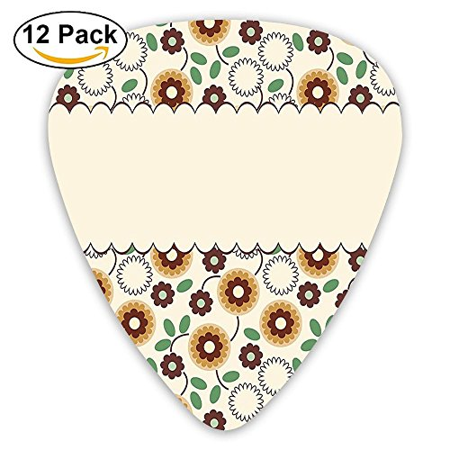 - Newfood Ss Elegance Flower Bouquet Cute Petals Old Fashion Shabby Chic Design Guitar Picks 12/Pack Set