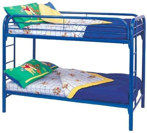 Amazoncom Morgan Twin Over Twin Bunk Bed With Built In Ladders
