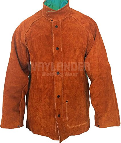 Waylander Premium Welding Jacket LARGE Cow Leather and Fi...