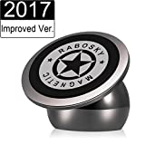 armorall dash - Universal Magnetic Car Mount, Rabosky Ultra-Compact Dashboard Phone Holder for iPhone 8 / 7 / 7S Plus / 6S / Samsung Galaxy S8 / S7 / S6 GPS and Light Tablet, One Hand & One Sec Mounting