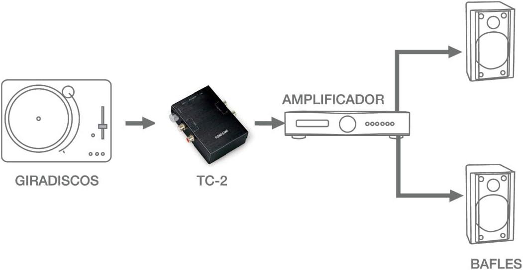 PREAMPLIFICADOR PHONO STEREO FONESTAR TC-2: Amazon.es: Bricolaje y ...