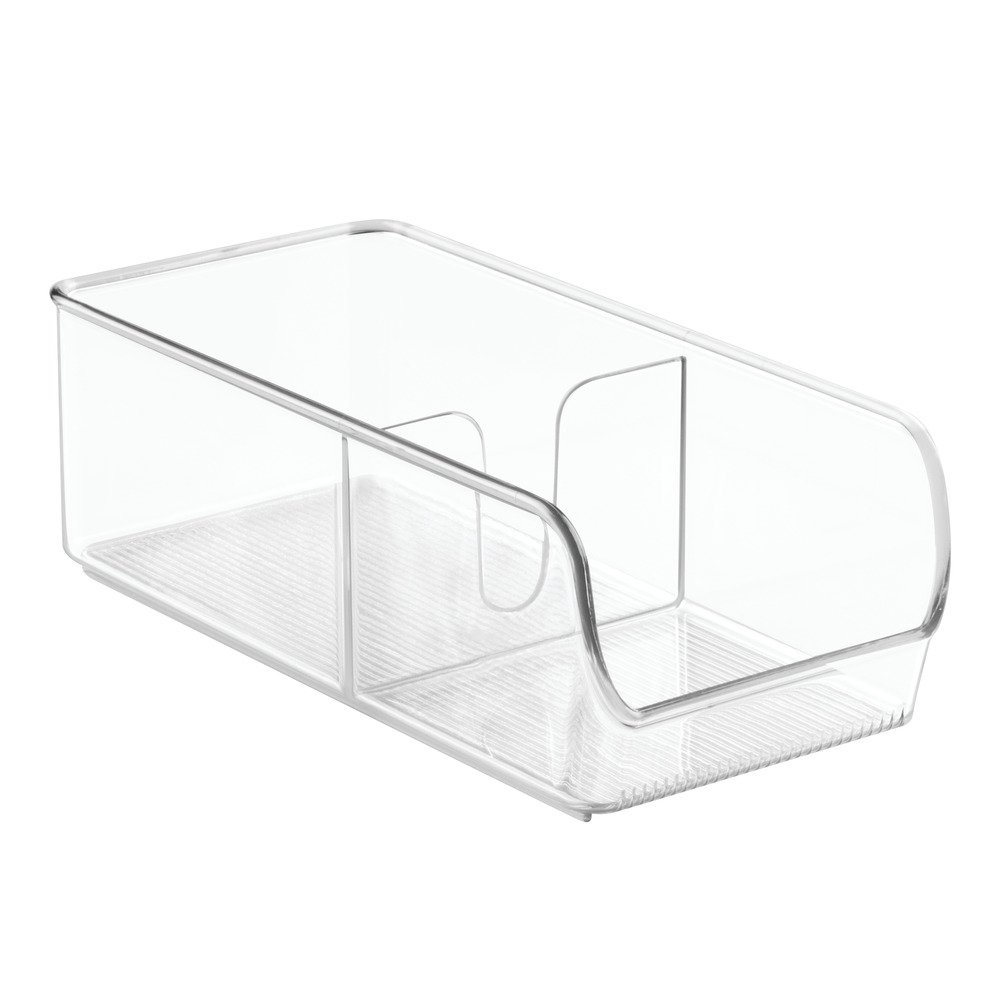 InterDesign Linus Spice Packet Organizer Bin for Kitchen Pantry, Cabinet, Countertops - Clear 54930