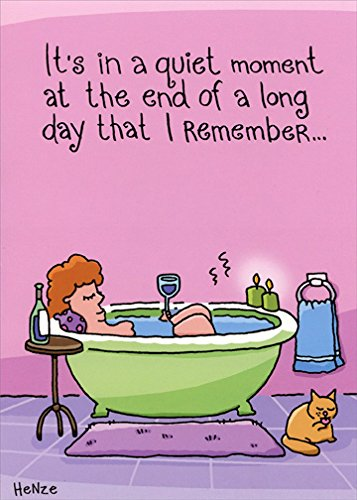 Woman Relaxing In Tub: Belated - Oatmeal Studios Funny Birthday Card