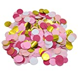 Mybbshower Blush Pinks Gold Tissue Paper Confetti for Girls Birthday Party Pack 10,000 Pcs Plus