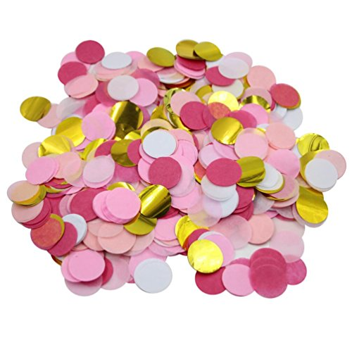 Mybbshower Blush Pinks Gold Tissue Paper Confetti for Girls Birthday Party Pack 10,000 Pcs Plus by Mybbshower