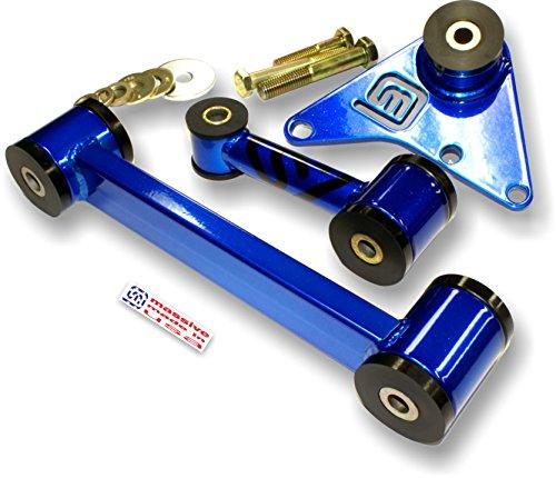 Massive Motor Engine Trans Mount 3 pc Set NEON SRT 4 Turbo Solid Upper Lower 2.4 (Blue Pearl) (Motor 4 Mounts Srt)