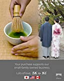 Premium Japanese Ceremonial Matcha Green Tea Chawan Bowl Full Kit Matcha Whisk Set with Accessories and Tools Bamboo Chasen Matcha Whisk Scoop and Holder