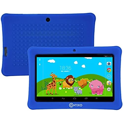 Halloween!Contixo Kids Safe 7 Quad-Core Tablet 8GB, Bluetooth, Wi-Fi, Cameras, 20+ Free Games, HD Edition w/ Kids-Place Parental Control Coupons